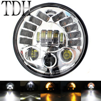Modified Motorcycle 7 inch LED Projection Headlamp Headlight Lamp High Low Beam For Harley Chopper Bobber Cafe Racer