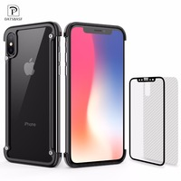 OATSBASF Airbag Metal Case For IPhone X Case Personality Airbag Shell For IPhone 8 8 Plus