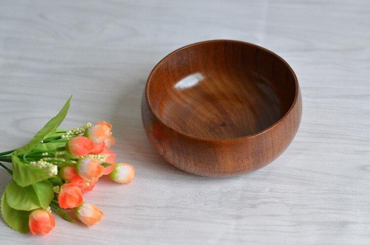 Japanese tea bowl to wash the whole wood acid jujube fruit bowl and bowl practice