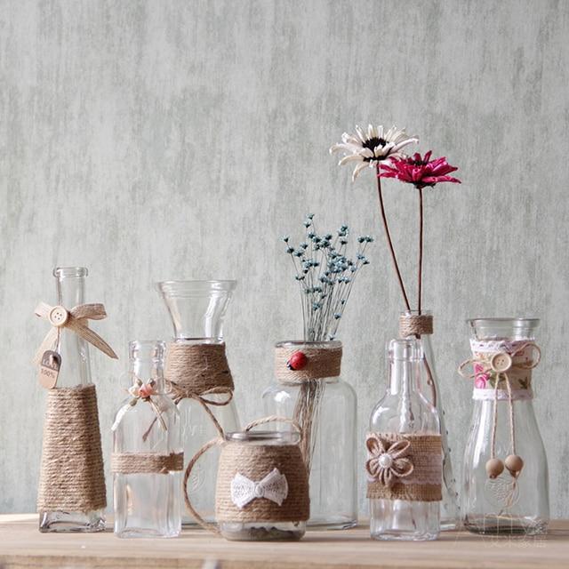 Mini decoracin del hogar de la vendimia Jarrones de mesa creativa