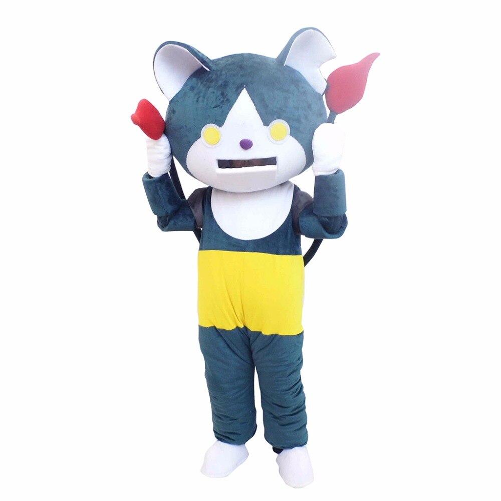 Хэллоуин Екай вотч jibanyan синий кот Талисман костюм для взрослых Одежда высшего качества мультфильм Костюмы для кошек Плюшевые для рекламы