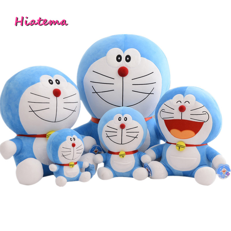 Hiatema Kawaii Anime 23cm 30cm 40cm Doraemon Plush Soft Toy Stuffed Doll Cat Five Styles For Girls Baby Kids Lover Best Gift