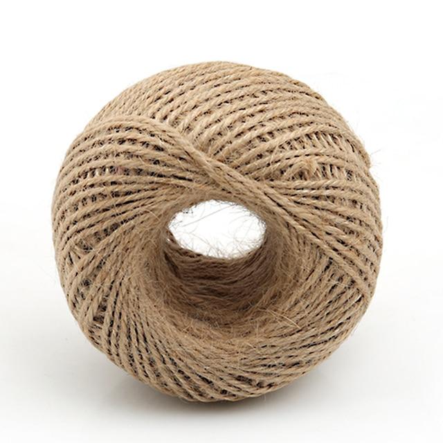 camo natural cuerda de yute suave 100 m yute natural caja de regalo cuerda cordones artesana - Cuerda De Yute