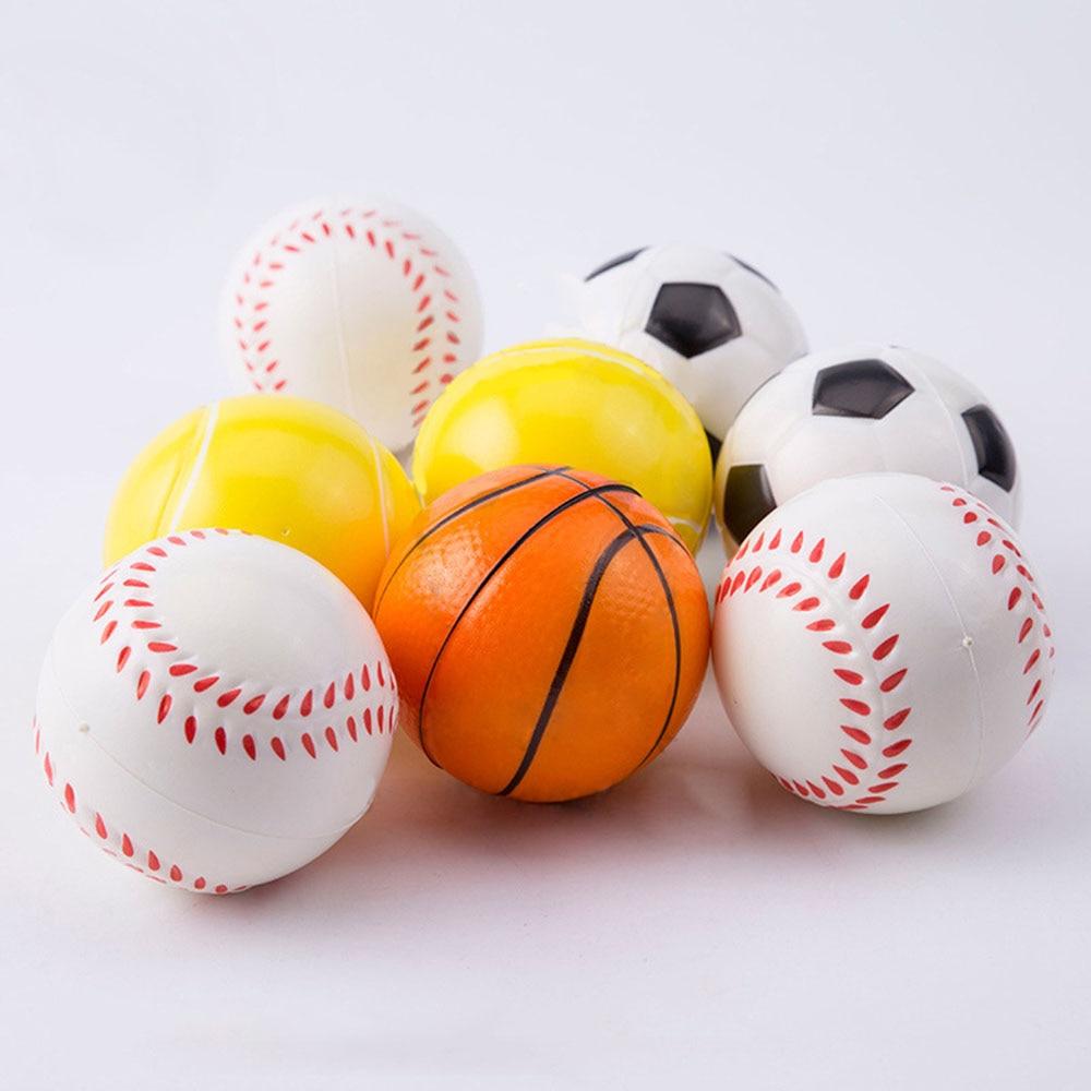 Mão Exercício de Basquete beisebol Futebol Tênis Macio Elástico Squuze Estresse Apaziguador Bola Criança Pequena Bola De Brinquedo Adulto Massagem Brinquedos