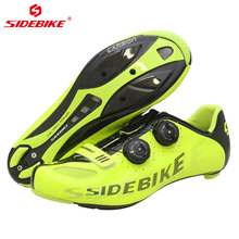 Sidebike Road Man Cycling Shoes Carbon Fiber Breathable Bicycle Ultralight Bike Chaussures Cycliste Route