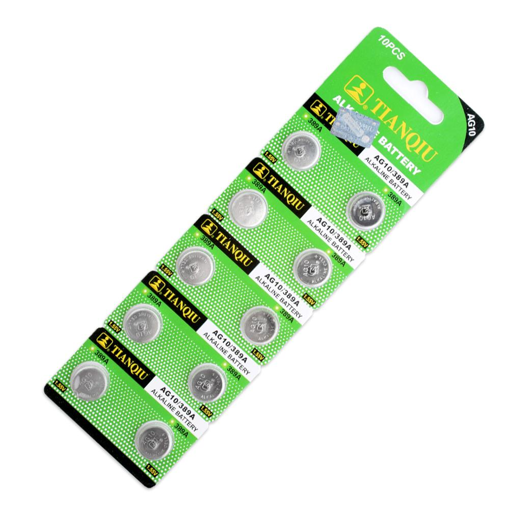 Pilas Boton+49%off+100% original Pack 50 Pcs/lot Hot AG10 G10A SR1130 LR1130 390A D189 LR54 Alkaline Battery Button Cell Coin