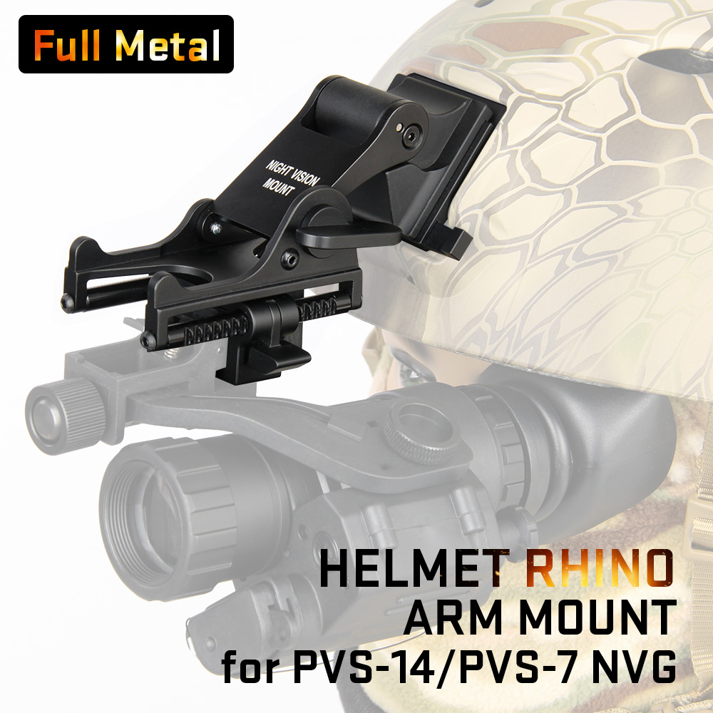 Tacitcal Helmet Mount Helmet Adapter Scope Mount For PVS-14 Night Vision HS24-0131 night vision mount nvg accessory