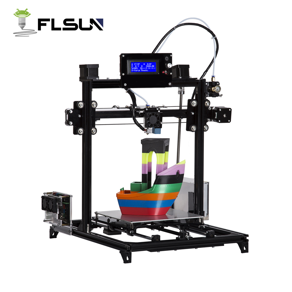 Flsun 3D Printer Prusa I3 Dual extruderKits Auto leveling Aluminum Frame Large 3D Printing Size Heated