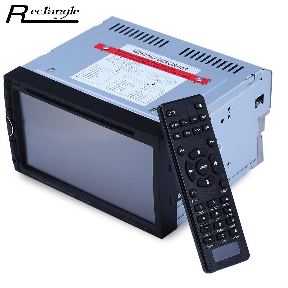 Universal 2din 7 pulgadas Bluetooth V3.0 Auto Radio Doble Din 32 GB CD de Vídeo