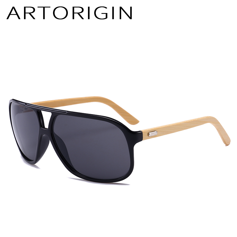 ARTORIGIN Wood Sunglasses Men Brand Designer Pilot Mirror Bamboo Sun Glasses Vintage zonnebril mannen lunette soleil homme
