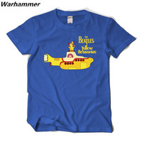 Classic Men S Rock Roll Band Beatles We All Live In A Yellow Submarine T Shirts