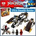 Совместимость Legoes Ninjagoes Ультра Стелс Raider 70595 Лепин 06038 Строительного Кирпича Блок Рис Игрушки Для Детей