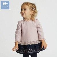 DB5923 dave bella infantile del bambino della ragazza capretti del vestito della principessa festa di compleanno ricamato vestito dai bambini bambino vestiti