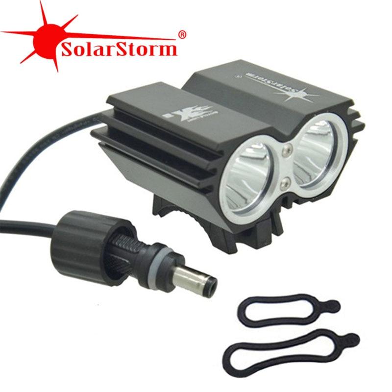 SolarStorm X2 5000 Lumen Bike Light  Bicycle Lamp 2x XML T6 LED BicycleLight Bike HeadLamp+O Ring (only Headlight)
