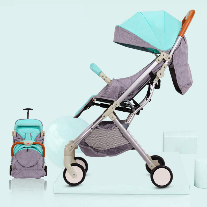 Aluminum Portable  Baby Folding Trolley High Landscape baby stroller Ultra-light Baby Can Sit and Lie Umbrella Car 0-36MAluminum Portable  Baby Folding Trolley High Landscape baby stroller Ultra-light Baby Can Sit and Lie Umbrella Car 0-36M