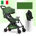 Geuokaka bebé trolley aleación de aluminio portátil plegable paraguas cesta de neumáticos de caucho