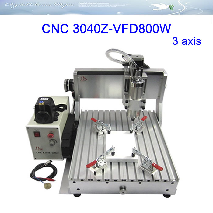 Newest CNC Router LY 3040Z-VFD800W 3axis Engraving /cutting Machine with 0.8KW water cooling spindle,can add 4th axis,free TAX ! 3axis mini cnc router ly cnc3020z vfd1 5kw engraving machine with sink cnc cutting machine