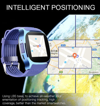 T8 Bluetooth Smart Watch With Camera Music Player Facebook Whatsapp Sync SMS Smartwatch Support SIM TF Card For Android ETC 8