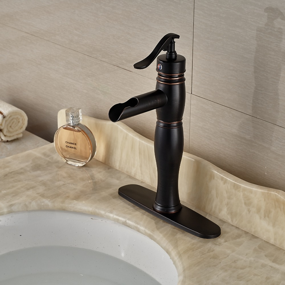 Single hole brass bathroom vessel sink faucet basin mixer for Single handle bathroom sink faucet