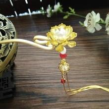 han fu chinese historical clothing accessories tassels hairpin princess head flower pearl hair pin vintage