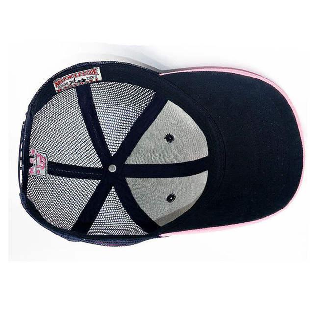 2e46e74876d220 LA female models summer paragraph baseball cap mesh cap summer hats for women  MLB Authentic mesh