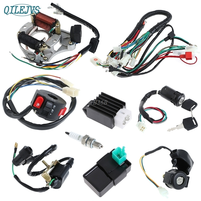 50/70/90/110CC CDI Wire Harness Assembly Wiring Set ATV Electric