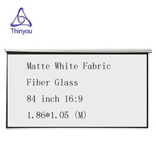 Thinyou Matte White Fabric Fiber Glass Curtain projector screen Pull-Down 84 inch 16:9 for Home Theater Meetings Exhibitions
