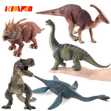 1pcs Jurassic Tyrannosaurus Dragon Dinosaur Toys Action&Toy Figures Plastic Dolls Animal Collectible Model Furnishing Toy Gift(China)
