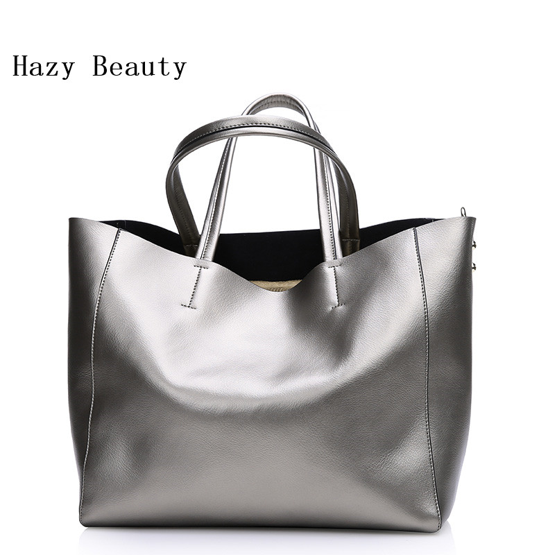 Free Shipping! Hazy Beauty Women's High Quality Cow Leather Shopping Tote Bags