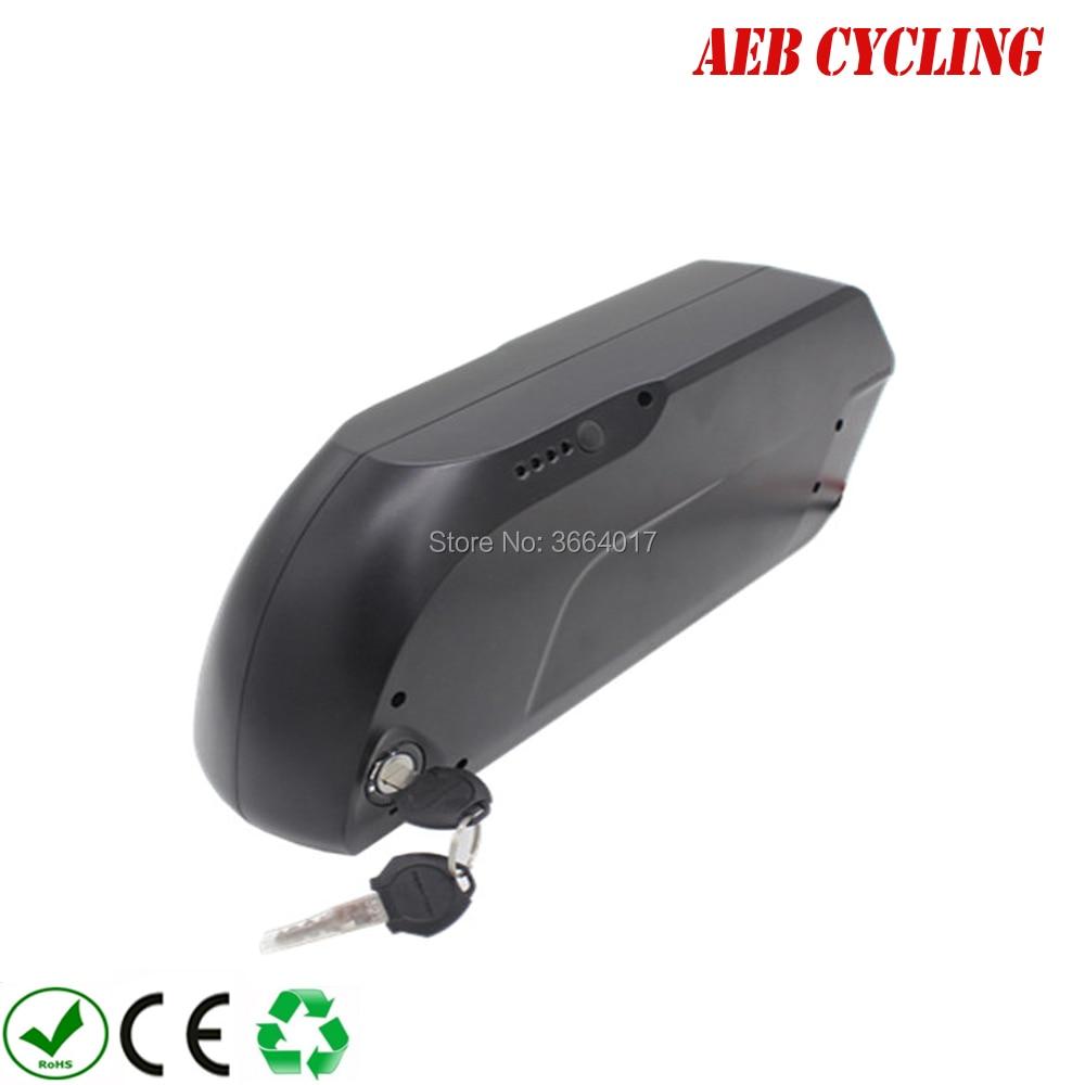 Frete grátis e impostos para a UE EUA Li-ion 48 V 17.5Ah tigre tubarão para baixo tubo da bateria bicicleta elétrica para fat tire bike com carregador