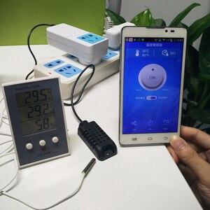 Image 4 - Sonoff TH10/16 akıllı Wifi anahtarı ev otomasyon kiti + Si7021/AM2301 sıcaklık nem sensörü Alexa ile çalışır google ev