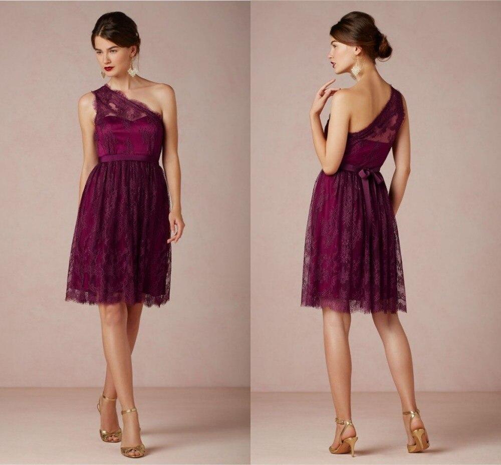 Purple Lace Bridesmaid Dresses for Wedding_Bridesmaid ...