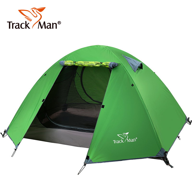 Trackman Camping Outdoor Tent 2-3 Person Double Layers 3 Season Hiking Tents waterproof Ultralight Picnic Tents Aluminum alloy 995g camping inner tent ultralight 3 4 person outdoor 20d nylon sides silicon coating rodless pyramid large tent campin 3 season