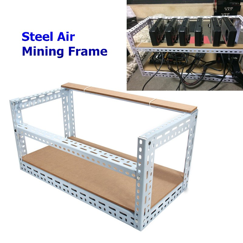 New Arrival 2018 Steel Coin Open Air Miner Mining Frame Steel Crypto Coin Open Rig Case up to 6 GPU ETH BTC Ethereum Machine