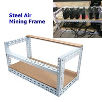 New Arrival 2018 Steel Coin Open Air Miner Mining Frame Steel Crypto Coin Open Rig Case