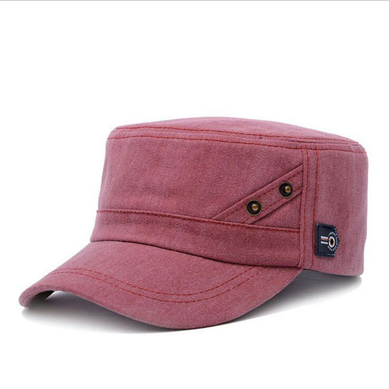 Aliexpress.com   Buy Brands SUOGRY 2018 Summer Autumn Men Women Unisex Flat Top  Cap Military Hats Classic Vintage Cotton Visor Hat from Reliable Military  ... fe185b4cf41
