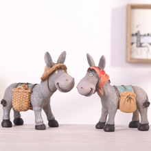 1PC/set Creative Resin Crafts  Donkey Decoration Home Decorations Couple Birthday GiftChildrens Gifts