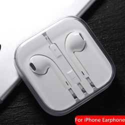 For Apple Earphone Mobile Phone Origina For Ear Pods with 3.5mm Earphones Headphone For iPhone 5/5s/5c/6/6s Plus/SE iPad Samsung