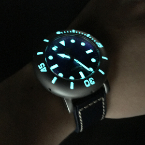 Image 4 - 산 마틴 남자 자동 시계 티타늄 케이스 다이버 시계 2000m 방수 빛나는 베젤 한정판 패션 손목 시계
