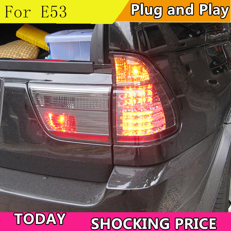 Стайлинга автомобилей хвост лампа для BMW E53 X5Tail огни 2000 2003 для E53 сзади света DRL + поворотник + тормоза + обратный