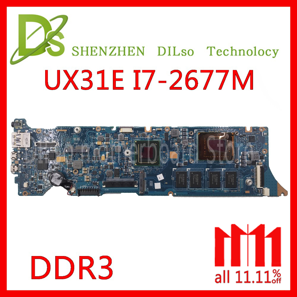 KEFU UX31E For ASUS ZenBook UX31E motherboard ux31e mainboard Laptop motherboard Integrated DDR3 I7-2677M cpu Test work 100% цена 2017