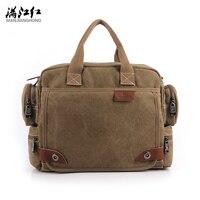 MANJIANGHONG Vintage Men Crossbody Bag Brand Canvas Shoulder Bags Men Messenger Bag Men High Quality Handbag Tote Briefcase 1101