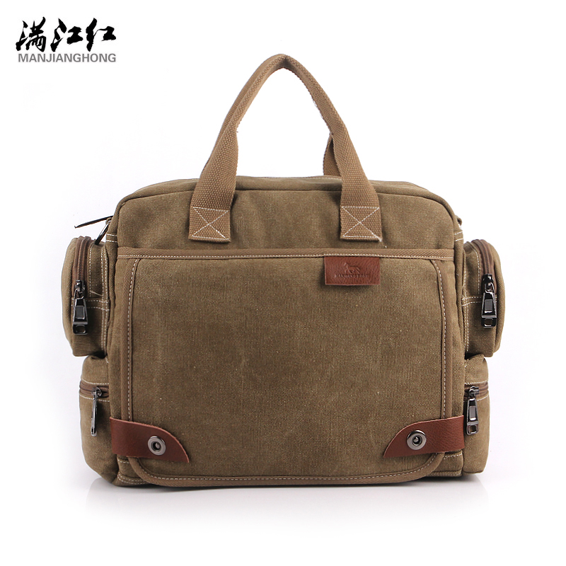 MANJIANGHONG Vintage Crossbody Bag Brand Canvas Shoulder Bags Men Messenger Bag Men High Quality Handbag Tote Briefcase 1101 vintage crossbody bag military canvas shoulder bags men messenger bag men casual handbag tote business briefcase for computer