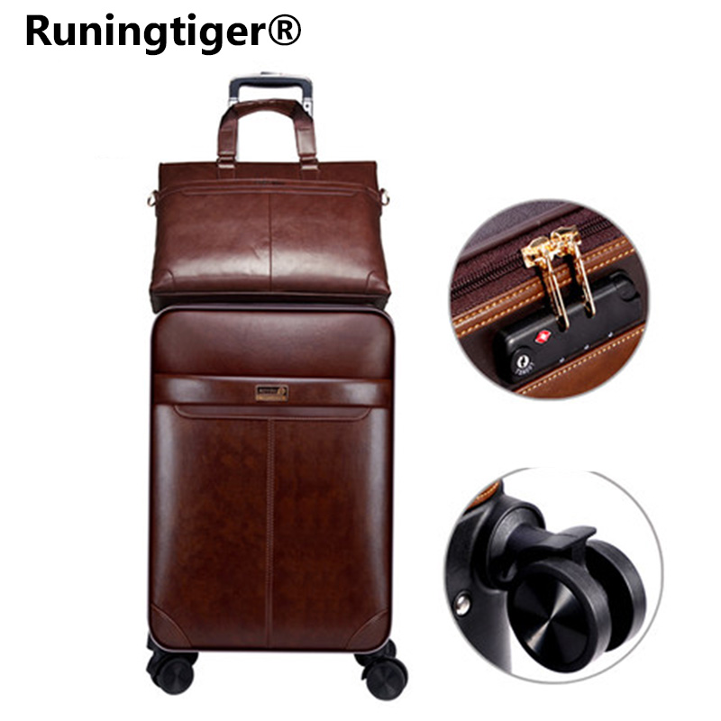 162024luxury Luggage Suitcase bag Waterproof PU leather Travel Box with Wheel Rolling Trolley case Luggage Business suitcase162024luxury Luggage Suitcase bag Waterproof PU leather Travel Box with Wheel Rolling Trolley case Luggage Business suitcase