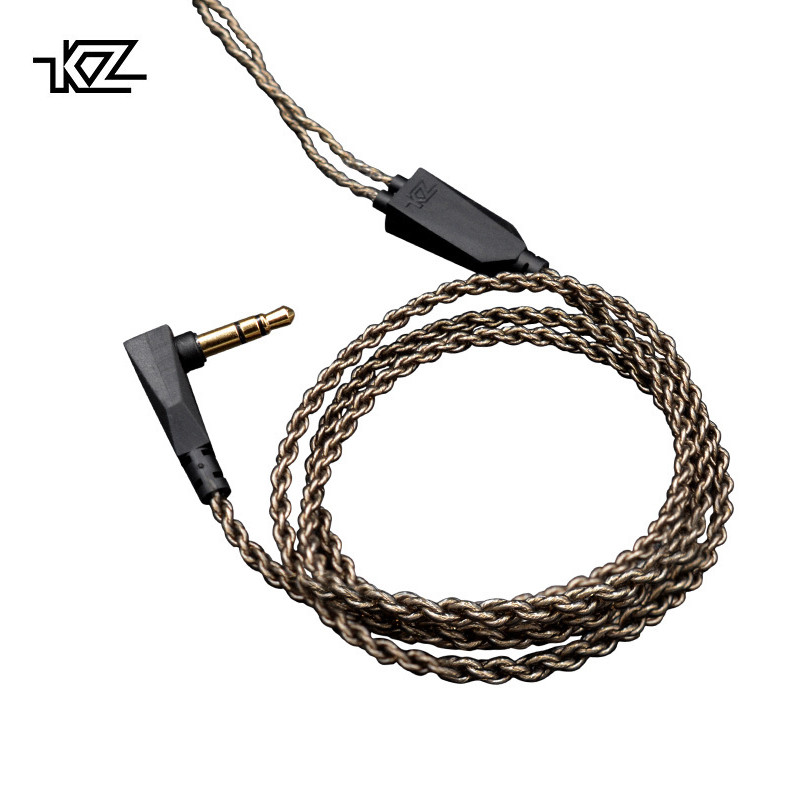 KZ 1.2M High Purity Oxygen Free Copper Headset Silver Plated Wire 0.75mm Pin Upgrade Cable For ZS10/ZST/ED12/ES3/ZSR/ES4Earphone