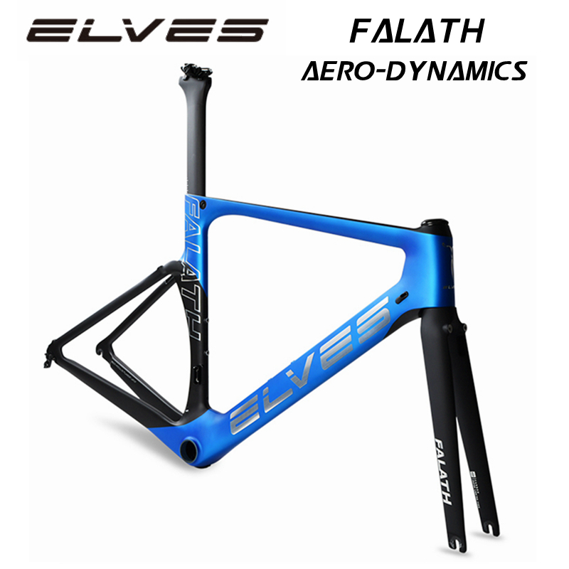 2018 NEW ELVES FALATH Aero-dynamics Carbon Road Bike Frame Carbon Fiber Bicycle Frame Carbon Road Frame Aerodynamics
