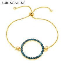 LUBINGSHINE Slider Chain Bracelets Bangles Fashion Jewelry Big Round Circle Adjustable Bracelet For Women Christmas bijoux