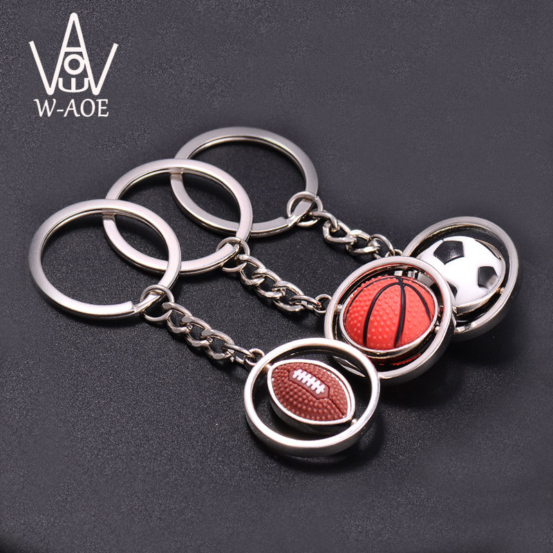 Sport Keychain Basketball Football Rugby Golf Ball Key Holder Business Car Use Key Chain Alloy Key Ring Souvenir Gift 7021