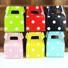 50pcs Polka Dot Paper Gift Box Wedding Favors Candy Paper Box for Packaging Chocolate Gift Wrapping Bag Birthday Party Decor(China)