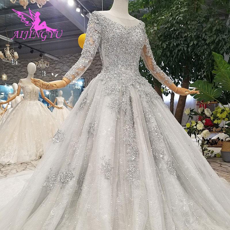 US $375.0  AIJINGYU Wedding Dress Plain Nice Gowns Designer Sweden 3Xl  Boutiques Online Sale Plus Size Gown Wedding Dresses Online-in Wedding  Dresses ...